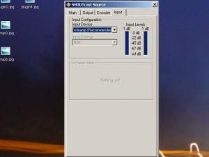 Вкладка «Input» - Тут мы выбираем, откуда будет идти музыка на сервер, из Winamp-а или со звуковой карты.